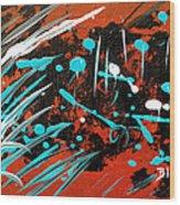 Southwest Rain Wood Print