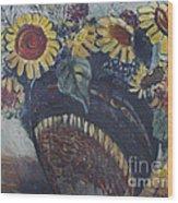 Southwest Sunflowers Wood Print