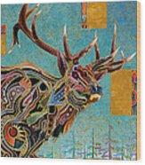 Southwestern Elk Wood Print by Bob Coonts