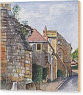 Souvigny Eclectic Architecture In A Village In Central France Wood Print