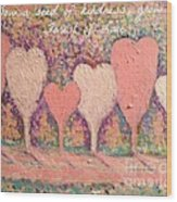 Sow A Seed Of Kindness Greeting Card Wood Print