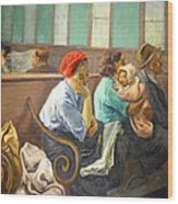 Soyer's A Railroad Station Waiting Room Wood Print