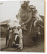 S P Baldwin Locomotive 2285  Class T-26 Ten Wheel Steam Locomotive At Pacific Grove California 1910 Wood Print