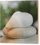 Spa Stones Wood Print