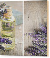 Spa With Lavender  Wood Print