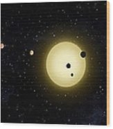 Space Kepler 11 Introduction Wood Print