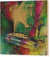 Space Nebula Wood Print