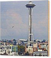 Space Needle Seattle Wood Print