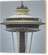 Space Needle Tower Seattle Washington Wood Print