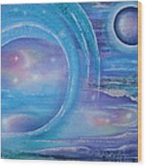 Space Paradise Wood Print