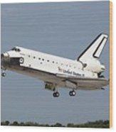 Space Shuttle Atlantis Landing Wood Print