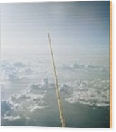 Space Shuttle Challenger Launch Wood Print