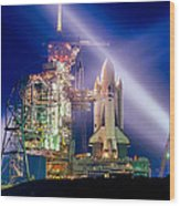 Space Shuttle Columbia Wood Print