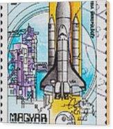 Space Shuttle Columbia Rocket Launch  Wood Print by Jim Pruitt
