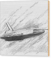 Space Shuttle Enterprise Wood Print