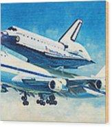 Space Shuttle's Last Flight Wood Print