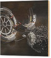 Space Station Construction Wood Print by Bryan Versteeg
