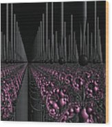 Space Station Garden 3d Fractal Wood Print