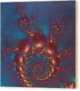 Space Worm Wood Print