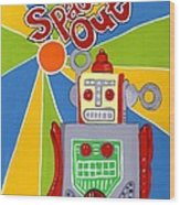 Spaced Out   Toyrobot Wood Print