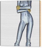 Spacegirl 11... Wood Print