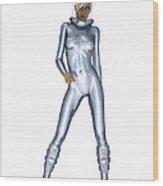 Spacegirl 3... Wood Print