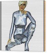 Spacegirl 8... Wood Print