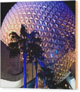 Spaceship Earth Wood Print