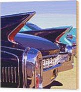 Spaceships Palm Springs Wood Print