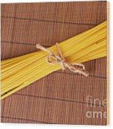 Spaghetti Italian Pasta Wood Print by Monika Wisniewska