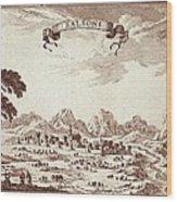 Spain 19th C.. Solsona. Engraving Wood Print