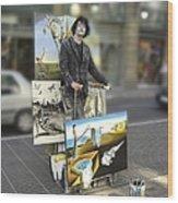 Painter In Spain Series 23 Wood Print