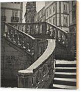 Plaza Stairs In Spain Series 24 Wood Print