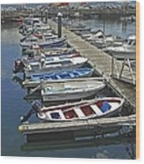 Row Boats In Spain Series 27 Wood Print