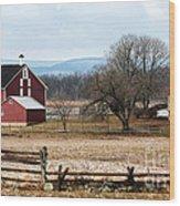 Spangler's Farm Wood Print by John Rizzuto