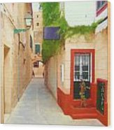 Spanish Alleyway Wood Print