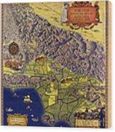 Spanish And Mexico Ranchos Wood Print