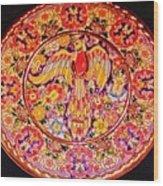 Spanish Bird Plate Wood Print