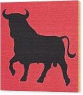 Spanish Bull Symbol Wood Print