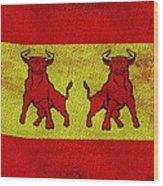 Spanish Bulls Wood Print by Jared Johnson