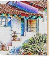 Spanish Bungalow Wood Print