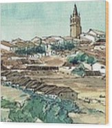 Spanish Church Tower Wood Print