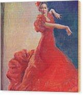 Spanish Flame Wood Print by Gwen Carroll