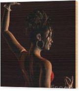 Spanish Flamenco Dancer - 1 Wood Print by Fairy Fantasies