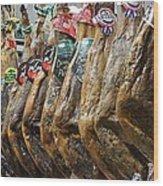 Spanish Ham Wood Print