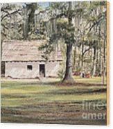 Spanish House Mission San Luis Tallahassee Wood Print