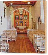 Spanish Mission Church New Mexico Wood Print