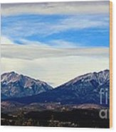 Spanish Peaks Magnificence Wood Print
