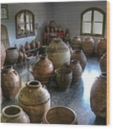 Spanish Pottery Shop Wood Print