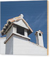 Spanish Rooftops Wood Print by Anne Gilbert